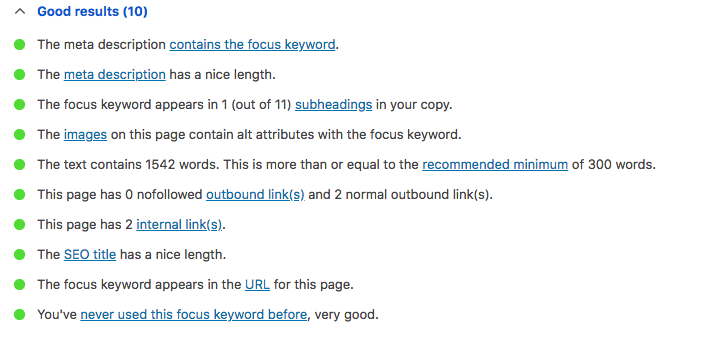 best SEO plugin for wordpress score