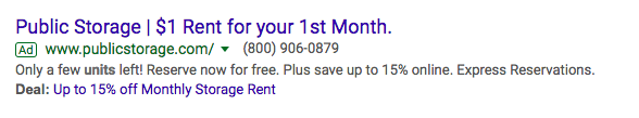 adwords offer extension example