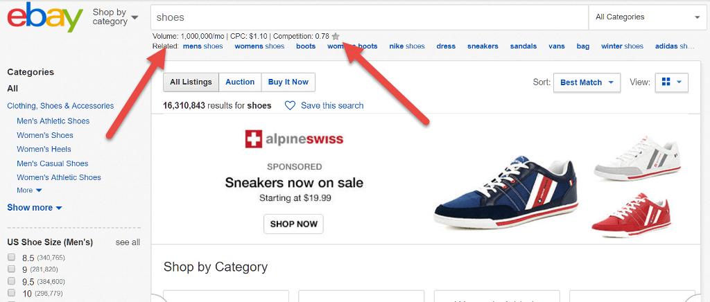 keywords everywhere review ebay