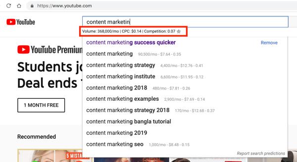 keywords everywhere youtube