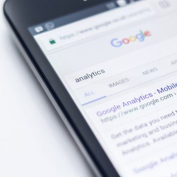 google search engine on a phone