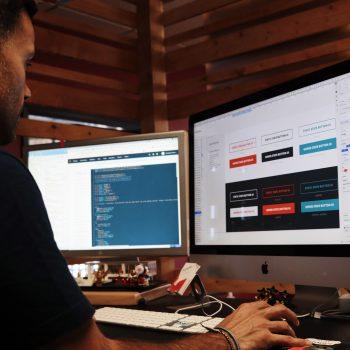web designer working