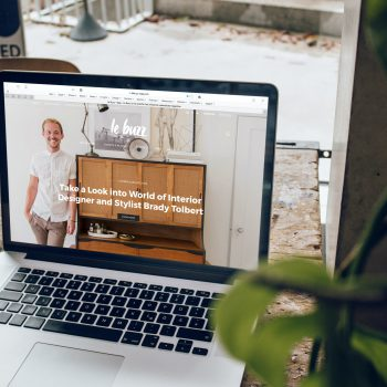 website on a macbook