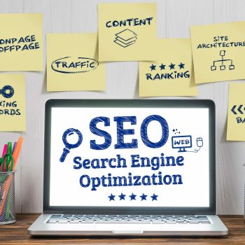 search engine optimization on laptop
