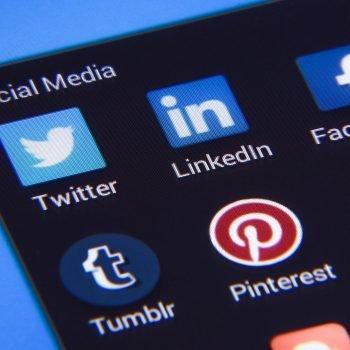 social media applications on a smartphone