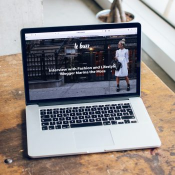 website on a laptop